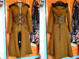 Steampunk Woolen coat by VioletCats