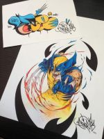Done with all marker wolverine and Throwie by NoverGWB