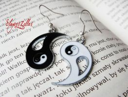 Ying - yang - harmony earrings by Benia1991