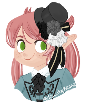 a frilly hat for a frilly girl by drawnbykenna