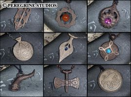Amulets of the Nine Divines - Stainless Steel by PeregrineStudios
