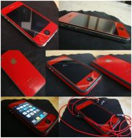 Red iPhone 4 Conversion by mik3j