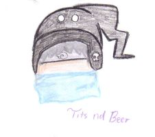 Avi Art tits nd beer by wasabieater