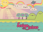 Kawaii Design Juices Calendar by nymphont