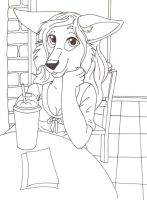 Cafe Girl by bdever