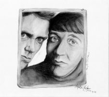 Stephen Fry and Hugh Laurie 2 by incruentum