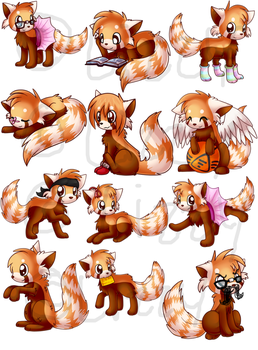 Soccer Red Pandas by LizzyTheFox