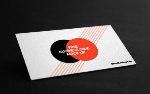 Free Business card Mockup by BlueMonkeyLab