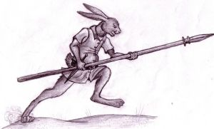 Hare Attack by EWilloughby