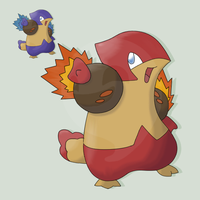 FAKEMON FLAMBIRD by mssingno