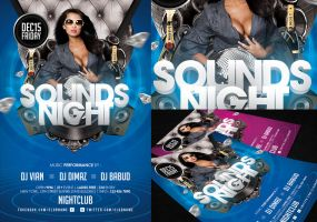 Sounds Night Flyer Template by angkalimabelas