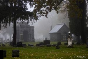 Misty Mausoleums by thriftyredhead