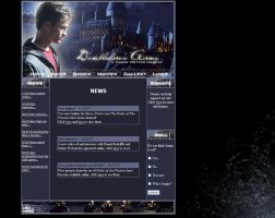 Harry Potter Website Layout by crazy-rodents
