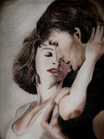 Dirty Dancing Johnny and Baby by squiggleypuff