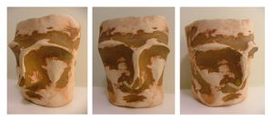 Pinched face pot by GoldenSplash
