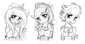 MLP FIM - Human Cadence Trixie and Spitfire by Joakaha