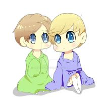 Chibi! Laurence and Garroth by FisshFacce480