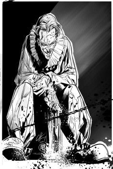Hobo Joker inks over C.Henry ~ by darquem