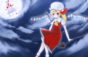 Flandre and scarlet fanart by AoiKen