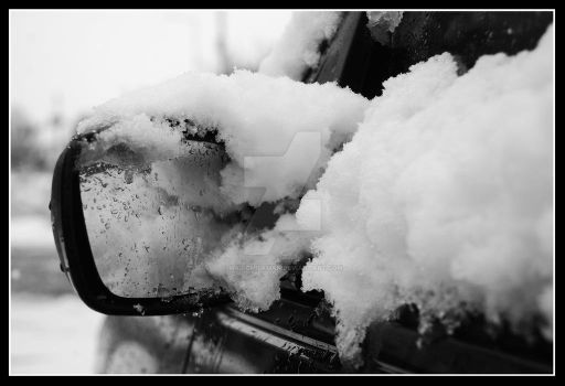 Snowy Wing Mirror by MagicMilkman