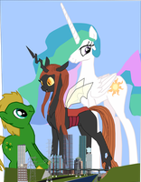 Queen Patina and Celestia deal with the big Lotto by OceanRailroader