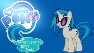 Wallpaper Vinyl Scratch is best pony by Barrfind