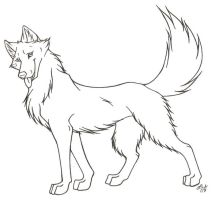 Dog template line art by Rabastan