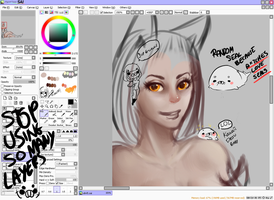 WIP of Ahri by Caonalque