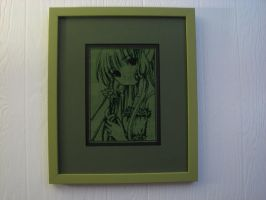 Chi from Chobits in a frame by dottypurrs