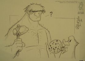 Demoncon2 Caveman Cookie Offering by jollyjack
