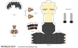 Rivaille (Levi) papercraft by Bronwe