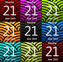 Calendar Colour Pack 2.0 by JoshyCarter