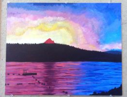 Painting 1: Landscape by QueenoftheLemurs