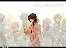 VK - Kaname - Alone in a crowd by Sagakure