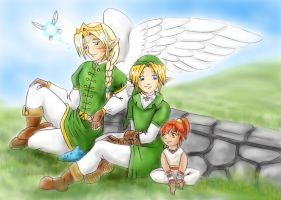 Zelda - Winged Ones - Family by LilleahWest