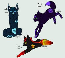 Ekement Wolf Adoptables-OPEN by Isteelurfoodz