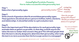 How to make a personality test by GuineaPigDan