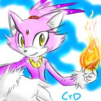 Blaze the Cat Fire by Dolltwins