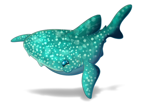 Fat Whale Shark by plushiemon