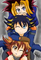 YuGiOh Trio by Little-MissMidnight