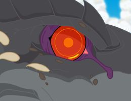 Godzilla's Eye colored by TricksterBlueJay