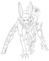 Fran FF XII - Lineart by the-caffeine-queen