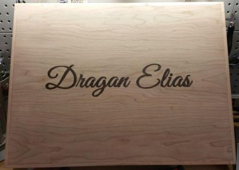 Baby Dragan's Memorial Box Lid - Outside View by TracyJDesigns