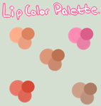 COLOR PALETTE FOR LIPS. by AndroidPanda