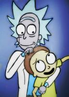 Rick and Morty by WillardStilles