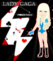 Lady GaGa. Poker Face. by Mustelka93