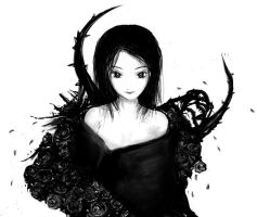 Black rose by linetype