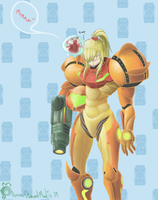 Baby Metroid Faithful to Momma by Yanimae