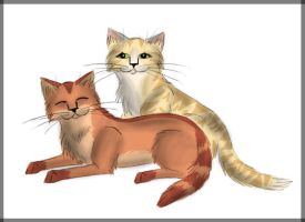 Fireheart and Sandstorm by Perlenmond