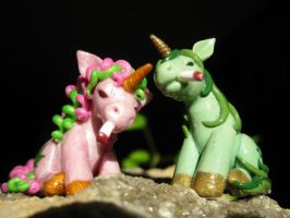 Stoney the Pony and Polly Pot Pony (front view) by DeadHeartMare